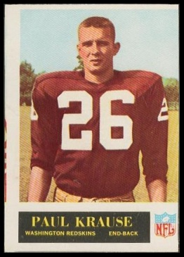1965 Paul Krause rookie football card