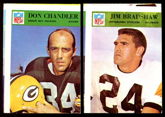 Miscut 1966 Philadelphia football cards