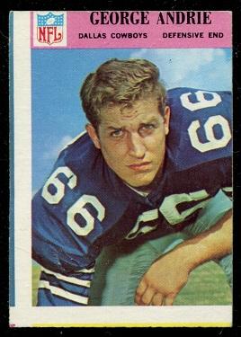 Miscut 1966 Philadelphia George Andrie football card