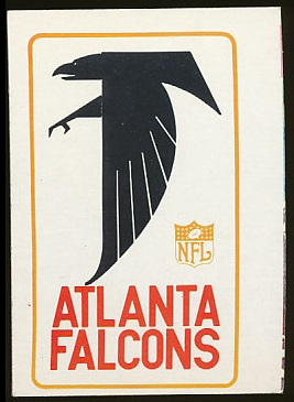 1966 Philadelphia Atlanta Falcons Insignia football card