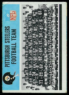 Miscut 1966 Philadelphia Steelers Team football card
