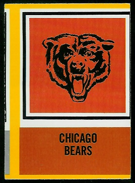 1967 Philadelphia Chicago Bears insignia football card