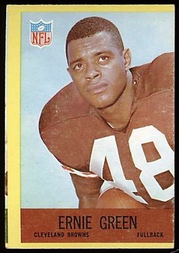 1967 Philadelphia Ernie Green football card