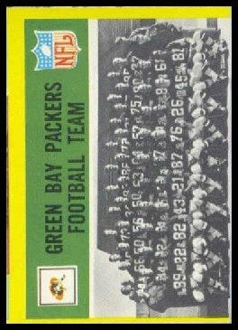 1967 Philadelphia Packers team football card