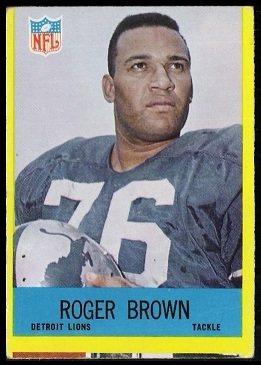 1967 Philadelphia Roger Brown football card