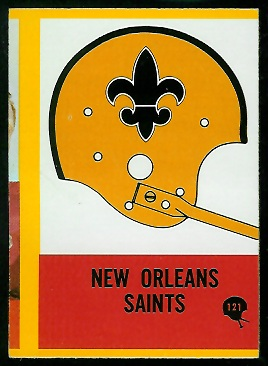 1967 Philadelphia New Orleans Saints team football card