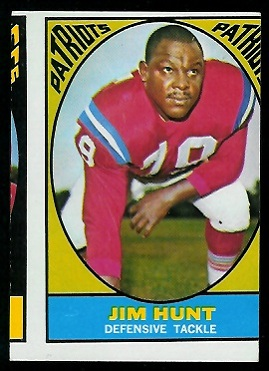 Miscut 1967 Topps Jim Hunt football card