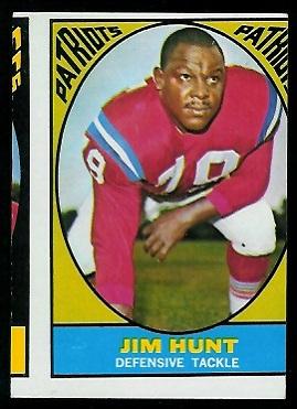 Miscut 1967 Topps Jim Hunt football card