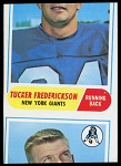 Miscut 1968 Topps Tucker Frederickson football card