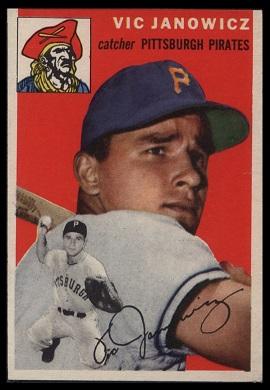 1954 Topps Vic Janowicz baseball card