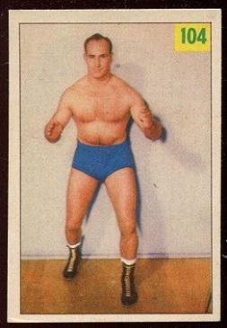 Gil Mains 1955-56 Parkhurst wrestling card
