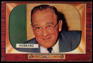1955 Bowman Cal Hubbard baseball card