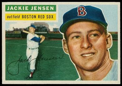 1956 Topps Jackie Jensen baseball card