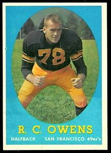 1958 Topps R.C. Owens football card