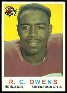 1959 Topps R.C. Owens football card