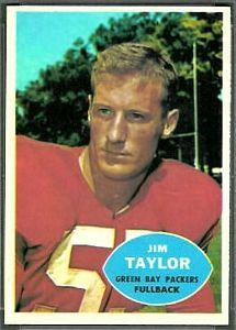 1960 Topps Jim Taylor football card