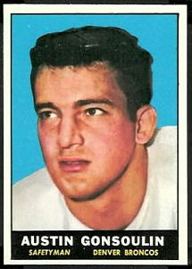 1961 Topps Goose Gonsoulin football card