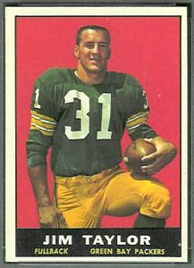 1961 Topps Jim Taylor football card