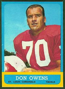 1963 Topps Don Owens football card