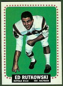 1964 Topps Ed Rutkowski football card