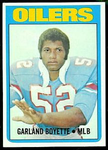 1972 Topps Garland Boyette football card