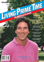 Ed Rutkowski on the cover of Living Prime Time