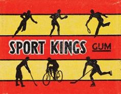 1933 Sport Kings football card wrapper