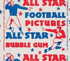1949 Leaf football card wrapper