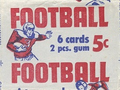 1950 Bowman football card wrapper