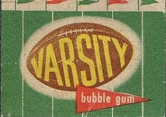 1950 Felt Backs football card wrapper