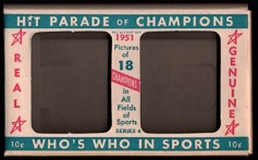 1951 Berk Ross sports card box