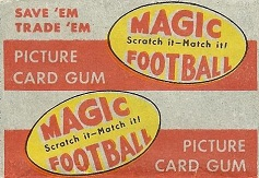 1951 Topps Magic football card wrapper