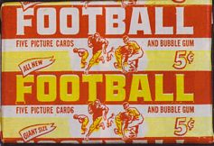1952 Bowman Large football card wrapper