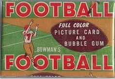 1954 Bowman football card wrapper