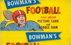 1955 Bowman 1 cent football card wrapper