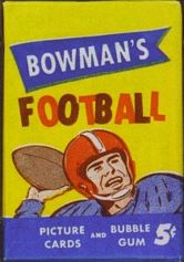 1955 Bowman 5 cent football card wrapper