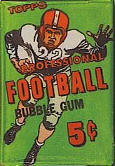1956 Topps football card wrapper