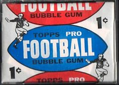 1957 Topps 1 cent football card wrapper