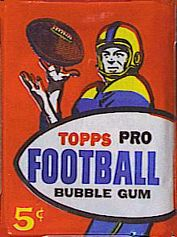 1957 Topps football card wrapper