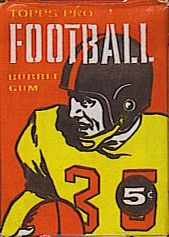 1958 Topps football card wrapper