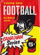 1958 Topps CFL Black Helmet football card wrapper