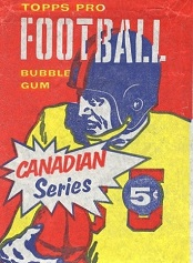 1958 Topps CFL Blue Helmet football card wrapper