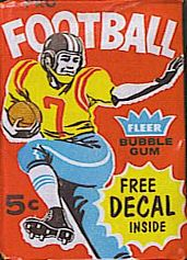 1960 Fleer football card wrapper