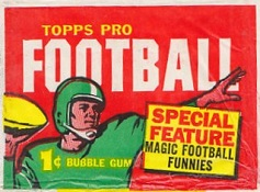1960 Topps 1 cent football card wrapper