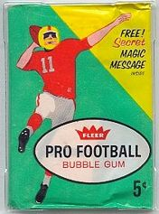 1961 Fleer 2nd series football card wrapper