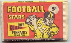 1961 Nu-Card football card wrapper