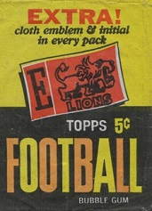1961 Topps 5 cent football card wrapper