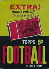 1961 Topps CFL football card wrapper