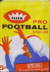 1962 Fleer football card wrapper