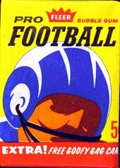 1963 Fleer football card wrapper